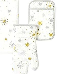 Kate Spade Holiday Starburst 3 Piece Kitchen Set